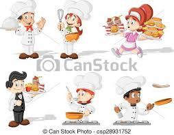 dessins cuisine chefs cuisine dessin animé cuisine serveur chefs clipart