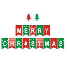Pretty Bunting Flags Merry Christmas Letter Garland Bunting Banner Christmas Flags