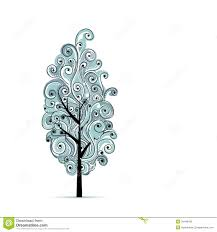 abstract wavy blue tree for your design stock vector image 34448185