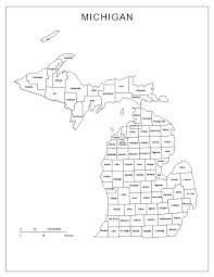 Howell Michigan Map by Michigan Labeled Map