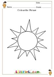 sun coloring colouring worksheets kids pre
