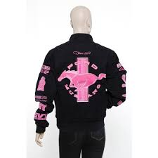 ford mustang jacket ford s twill mustang jacket black pink small 978950