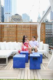 how to style a roof deck sunset
