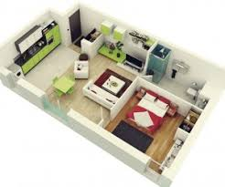 1 Bedroom Flat Interior Design Studio Apartment Floor Plans