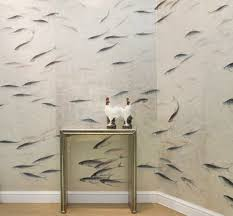 hand painted wallpaper from de gournay apartment therapy