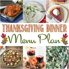 thanksgiving dinner menu plan cooking on the front burner