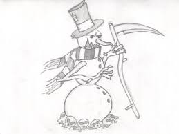 evil snowman pencil by cronos stef on deviantart