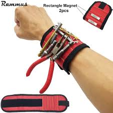 magnetic bracelet tool images Magnetic wristband with strong magnets for holding screws nails jpg