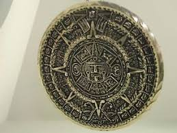 vintage signed mexico 925 sterling aztec sun god pendant brooch w