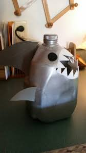shark milk jug for 5th grade project to collect shells for