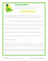 end punctuation exclamations worksheet education com