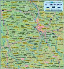 Bavaria Germany Map by Map Of Middle Franconia Germany Bavaria Map In The Atlas Of