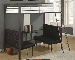 size metal loft bed with desk