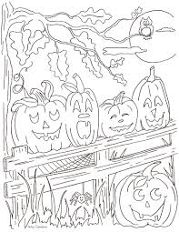 coloring pages kids artzy creations with halloween pumpkin