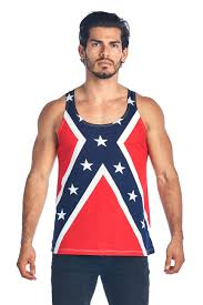 Confederate Flag Pin Soft Cotton Confederate Rebel Flag Tank Top Shirt Shoretrendz
