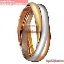 three ring imitation de cartier three ring 3 gold bracelet large