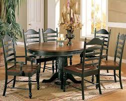 only cottage cherry ebony dining set wo dc4260ces