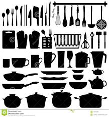 ustensiles de cuisine vecteur de silhouette d ustensiles de cuisine illustration de