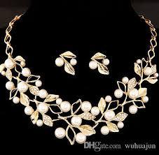 elegant necklace set images Beautiful bridal jewelry women elegant necklace earring set gold jpg