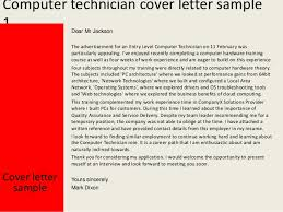 Computer Technician Sample Resume by Awesome Collection Of Sample Cover Letter For Pc Technician For