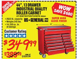 harbor freight 44 rolling tool box 349 99 this weekend the