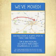 New House Invitation Cards Sample Moving Announcement Change Of Address Moving Pinterest