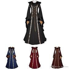 Victorian Halloween Costumes Women 2017 Retro Women Victorian Halloween Medieval Dress Costumes