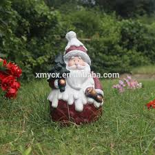 Life Size Santa Claus Decoration 90cm H Fiberglass Life Size Santa Claus For Christmas Decoration