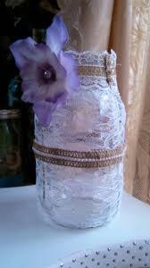 decorated lace 1 quart mason jars mason jar home decor mason jar