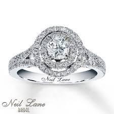 circle engagement rings engagement ring 1 ct tw cut 14k white gold