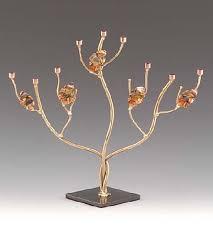 menorah tree of hanukkah menorah collection infinity in metal tree with three
