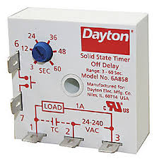 dayton encapsulated timer relay 1a solid state 6a858 6a858