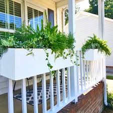 2 foot long over the rail hanging modern pvc planter for railings