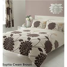 3pc sophia cream u0026 brown double size bedding bed duvet cover quilt