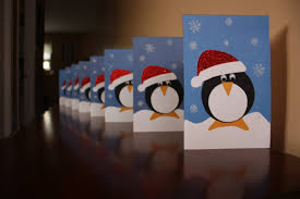 second hand class penguin christmas cards