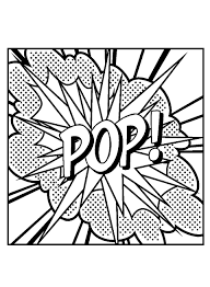 pop art big pop master pieces coloring pages for adults