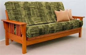 useful queen size bi fold futon sofa bed frame only in home