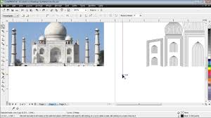 corel draw x4 blend tool ushared art of taj mahal in corel draw desktop publishing tips