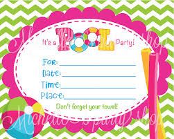 pool party invitations blank invitations for turning 12 new set of 12 pool