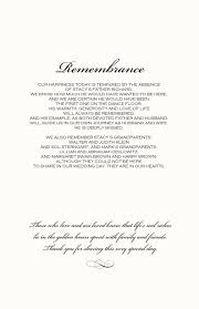 Example Of Wedding Programs Sample Wedding Ceremony Program Thank You Wedding Invitation Sample