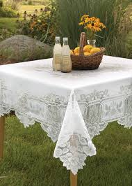 Coffee Table Cloth by Heirloom Lace Tablecloth 70