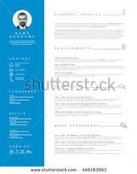 Minimalist Resume Vector Minimalist Cv Resume Template Nice Stock Vector 429177148