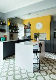 modern kitchen design yellow 25 lively and bold grey and yellow kitchens shelterness