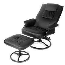oz crazy mall pu leather recliner chair and footrest