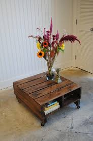 Diy Wood Crate Coffee Table by 60 Best Pallet Coffee Tables Images On Pinterest Home Woodwork