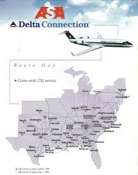 Fort Walton Beach Map Delta Connection Asa Route Map 1999 The Delta Connection U2026 Flickr