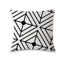 sofaã berwurf weiãÿ schwarz weiß moderner diamant dekorativer überwurf kissenbezug
