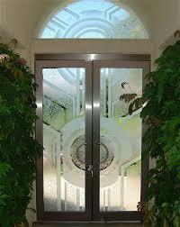door fascinating green glass door design ideas for entryway