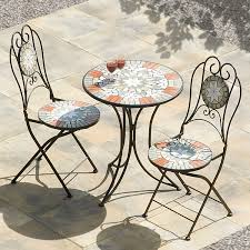 Tile Bistro Table Chair Bistro Table Chairs Indoor Outdoor Aluminum Bistro Table