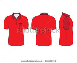 polo shirt design templates front back stock vector 236133178